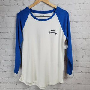 Old Navy Stay Amazing Color Block Soft Baseball Tee Size M NWT